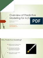 PredictiveModeling-LouiseFrancis-MAS2015