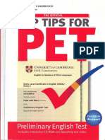 Top Tips for PET Paperback With CD-ROM - Cambridge Esol