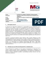 Sílabo - Gestión de la Calidad y Estándares Internacionales MCI OPE IV.pdf