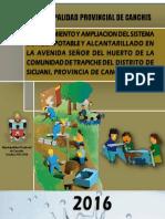 Saneamiento Básico Señor del Huerto-Trapiche-Sicuani-Canchis-Cusco