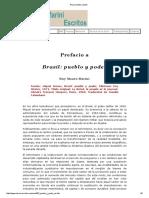 Ruy Mauro Marini - 1968 - Prefacio - Brasil pueblo y poder.pdf