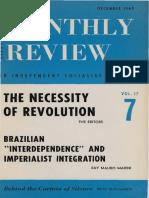 Ruy Mauro Marini - 1966 - Brazilian 'Interdependence' and Imperialist Integration