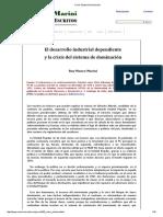 Ruy Mauro Marini - 1970 - El desarrollo industrial dependiente y la crisis del sistema de dominación.pdf