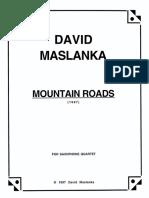 Mountain Roads Score in C Perusal