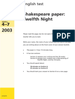 999906454X-2003 Ks3 Shakespeare 3 Twelfth Night