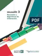 Módulo 3 - Recursión y Algoritmos de Ordenación.pdf