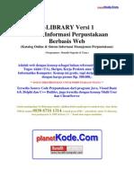 Analisis Sistem Informasi Perpustakaan Berbasis Web - eLibrary v1 untuk Contoh Tugas Akhir(TA), Skripsi dan Tesis Informatika Komputer