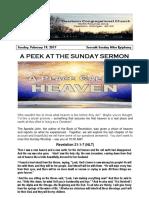 Pastor Bill's Newsletter - February 19, 2017