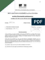 Déclaration d'intérêts et d'activités de Benoit Hamon