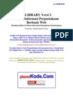 Analisis Sistem Informasi Perpustakaan Berbasis Web - eLibrary v2 untuk Contoh Tugas Akhir(TA) dan Skripsi Informatika