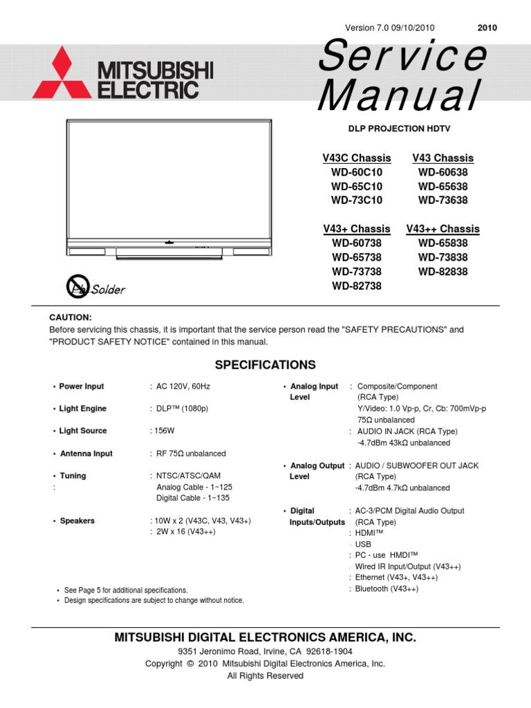 Mitsubishi Wd 60638 V43 Service Manual Gp10 Ac Drives Basic Connection Diagram To Plc Source Logic