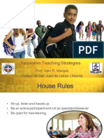 Innovative Teaching Strategies for TUP Graduate School