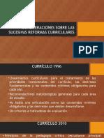 Consideraciones Sobre Las Sucesivas Reformas Curriculares de Ecuador