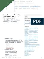 Linux Essentials Final Exam (Modules 9 – 16) - CCNA Exam 2016