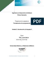 Unidad 3. Introduccion al lenguaje C.pdf