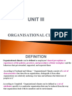 Unit v - Organisational Climate