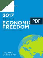 Indice Libertad Economica Año 2017