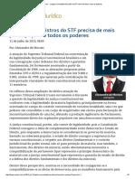 ConJur - Justiça Comentada_ Escolha Ao STF Deve Envolver Mais Os Poderes