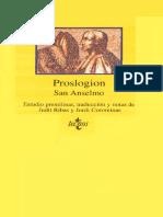 San Anselmo de Canterbury - Proslogion
