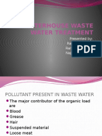 Slaughterhouse Waste Water Treatment