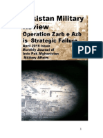 Operation Zarb e Azab is a strategic failure - An April 2016 Assessment Proved Correct by present situation of February 2017