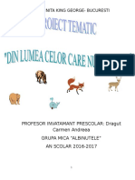 Proiect Tematic Animale Gr Mica 2017