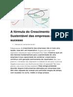 A fórmula do Crescimento Sustentável das empresas de sucesso.doc
