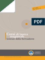 Corsi-di-laurea-opuscolo Laurea Magistrale in Scienze Della Formazione 2015