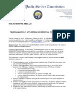TransCanada Keystone XL Application to Nebraska Public Service Commission