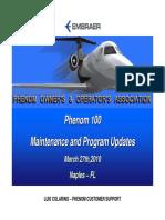Phenom Owners Naples 2010 Embraer Presentation