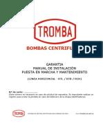Garantia Manual de Instalacion y Mantenimiento LINEA RTL RTB