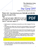 Day Camp 2017 Application