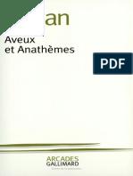 Emil Cioran - Aveux Et Anathèmes