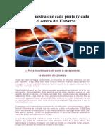 La Física Muestra Que Cada Punto Es El Centro Del Universo