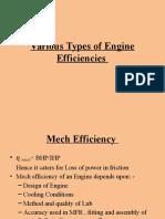 Various Types of Engine Efficiencies