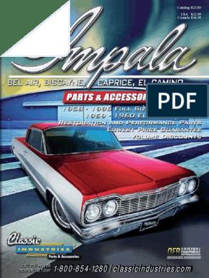 1961-64 Impala Convertible Rear Well Tack Strip Bar 3 Piece
