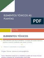 2017 - Bila - Elementos Tóxicos as Plantas