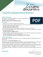 Exame Discursivo UERJ - Língua Portuguesa  e Literatura Brasileira - 2012.pdf