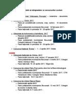 Calendar Olimpiade Concursuri Fiz-chi 2016-2017