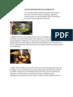 Técnicas de Preparación de Alimentos