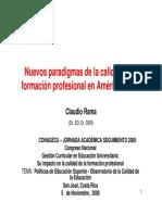 Claudio Roma- Nuevos Paradigmas en La Calidad de La Formación Profesional en a. L.