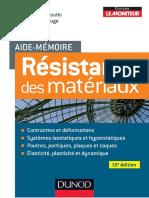 Aide mémoire Résistance des matériaux 10 e Edition - Dunod.pdf