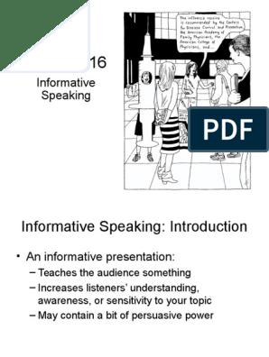 Chapter 16 Informative Speaking Public Speaking Narrative
