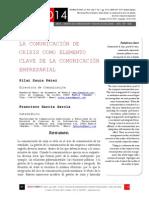 Icono14. A8/V2. La comunicación de crisis como elemento clave de la comunicación empresarial