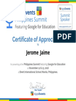 PhilippinesSummit2016_CertificateofAppreciation_JeromeJaime