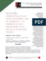 Icono14. A8/V2. Necesidades comunicativas de los grupos multimedia para el desarrollo y la formación de sus trabajadores en la era de la televisión digital