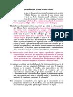 Concepción de comunicación según Manuel Martín
