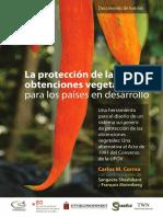 La Proteccion de Las Obtenciones Vegetales en Los Paises en Desarrollo Alternativa a La Upov