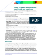 Personalisation and the future of health and social care
