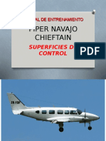 Piper Chieftain-superficies de Control